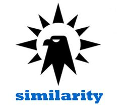 This image is an example of the gestalt law of similarity. The mind groups similar elements such as form into collective components.