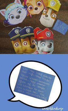 Paw Patrol Geburtstag - Paw Patrol Masken für Schatzsuche