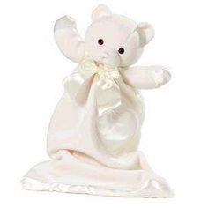My Sweet Dreams Baby - Personalized Baby Lovies- Cream Bear (http://www.mysweetdreamsbaby.com/securityblankets/lovey.htm)