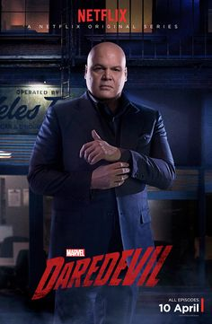 New DAREDEVIL Character Poster of Vincent D'Onofrio as The Kingpin.