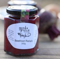 Beetroot Relish by GeckoGrove on Etsy Beetroot Relish, Foods, Unique Jewelry, Handmade Gifts, Etsy, Food Food, Kid Craft Gifts, Food Items, Craft Gifts