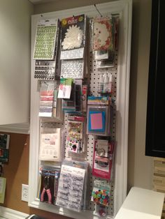 My craft room peg board. Check out my craft room tour on YouTube:  http://youtu.be/N-04zGr0e24