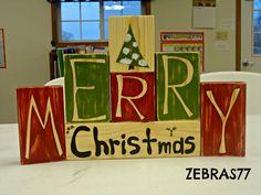 Merry Christmas 2x4 craft