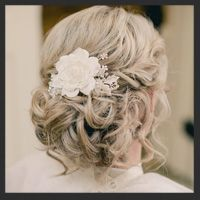 Romantic Wedding Hair by Hair Comes the Bride