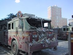 Destroyed FDNY truck