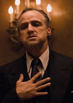 Marlon Brando as The Godfather Don Vito Corleone Marlon Brando The Godfather, Godfather Movie, Godfather Quotes, Hollywood Stars, Classic Hollywood, Movie Stars, Movie Tv, Movie Scene, Don Corleone