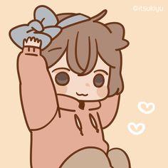 Sticker obediently – LINE stickers Chibi Cat, Cute Anime Chibi, Cute Anime Pics, Cute Anime Couples, Kawaii Anime, Cute Couple Drawings, Anime Couples Drawings, Cute Drawings, Cute Art Styles