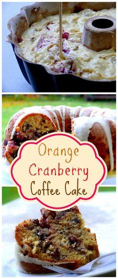 Orange Cranberry Coffee Cake Cranberry Cake, Cranberry Recipes, Holiday Recipes, Orange Recipes, Cranberry Muffins, Canned Cranberries, Canned Cranberry Sauce, Cake Recipes, Dessert Recipes