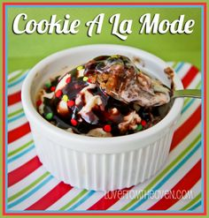 #Cookie A La Mode by Love From the Oven