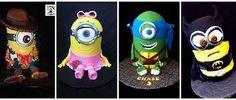 Minion cake collage  Minion Mash ups of Woody, Angelina Ballerina, Leo the Ninja Turtle and Batman