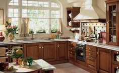 cocina rustica con muebles de algarrobo