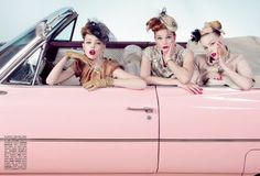 Pixie Dollhouse: Addison Gill for Under.ligne by Doo.ri + Vintage Car Editorial