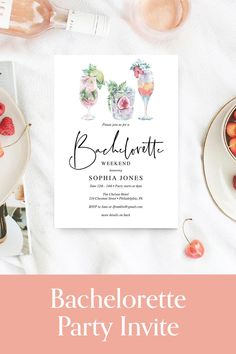 Invite all the girls to the best weekend of the year, bachelorette party weekend. Get the bridal party and best friends together before the wedding for an awesome party. #bachelorette Bachelorette Games, Bachelorette Party Invitations, Bachelorette Weekend, Graduation Invitations, Birthday Chalkboard, Milestone Birthdays, Luau, Getting Married, Invite