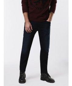 e2bb5a61 Diesel WAYKEE JOGGJEANS 0678P Dark blue Medium treated Straight Jeans.  Gregory Grey