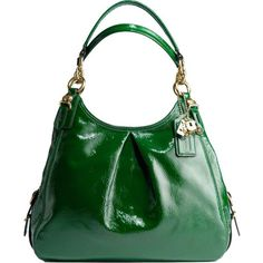 Coach.... kelly green. patent. love.