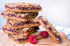 Whole-Grain Raspberry Energy Bars