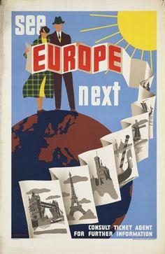 Travel Vintage Postage@tp