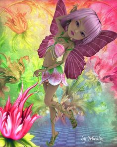 Fantasy Fairy Teryl By LadyMiralys. Fantasy Paintings, Fantasy Art, Fantasy Fairies, Woodland Creatures, Fantasy Creatures, Fairy Wallpaper, Butterfly Fairy, Beautiful Fairies, Fairy Art