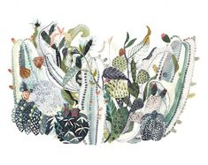 Gorgeous Watercolor Paintings Contain Intricate Details by Michelle Morin
