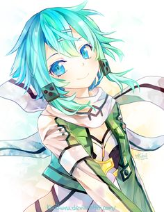 Fan art of Sinon from Sword Art Online. -----------------------------------Click here for commission info: kiwikuru.deviantart.com/art/Ar…My prints shop: kiwikuru.storenvy.com