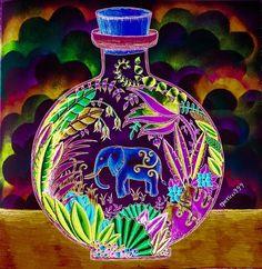 Inspirational Coloring Pages by @tpetina999 #magicaljungle #selvamagica…
