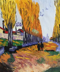 """VG107-Les Alyscamps-Vincent van Gogh Repro Oil Painting on Canvas 20x24"""""""