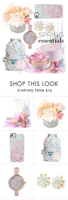 """Untitled #88"" by zeyneby ❤ liked on Polyvore featuring beauty, Casetify, Kipling and Pilgrim"