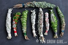 Naturally Healthy Remedies: How to make your own Homegrown Smudge Sticks Make Your Own, Make It Yourself, How To Make, Craft Font, Magia Elemental, Smudge Sticks, Fire Starters, Book Of Shadows, Herbal Medicine