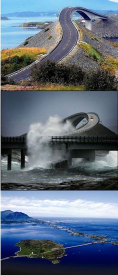 The Atlantic Road, Norway. This looks intense to drive