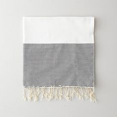 scents and feel positive negative stripe fouta towel