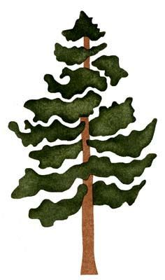 pine tree stencil, could be printed on something other then plain paper