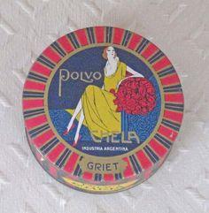 Antique Polvo Chela Face Powder Box  Unopened by KISoriginals, $69.00