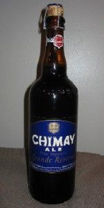 Chimay Blue Grande Reserve! Really good beer! I don't like the taste of most beers, but this has really good flavor!
