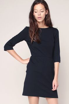 Robe navy manches 3/4 Keaton - Sessun