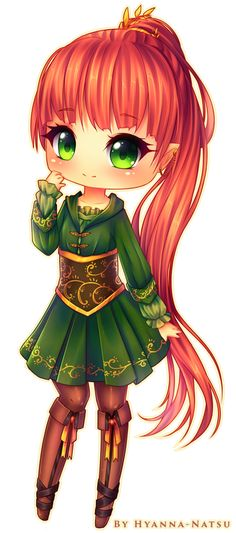 Anime elf chibi