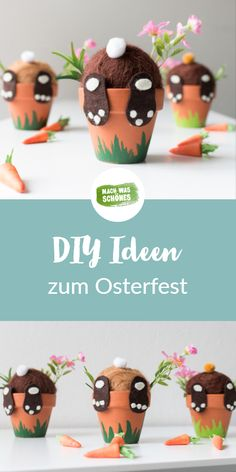 Easter crafts with children - 3 unconventional ideas - Ostern: DIY Ostergeschenke & Osterdeko - Easter handicrafts with children – discover our most popular DIY handicraft ideas for Easter and - Diy Home Crafts, Crafts For Kids, Children Crafts, Easter Party, Easter Recipes, Easter Ideas, Diy Party, Easter Crafts, Happy Easter