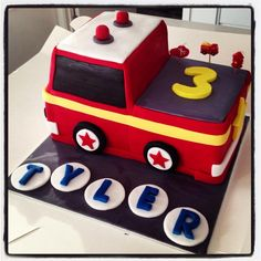 Fire engine cake @She Baked My Cake