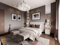 Фото дизайн спальни из проекта «Дизайн интерьера трехкомнатной квартиры 127 кв.м., ЖК «Парадный квартал», современный стиль»