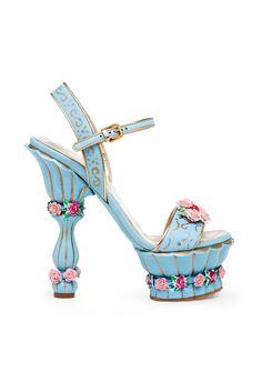 fall 2012, Dolce  Gabbana, shoes, high heels, platforms, sandals, blue