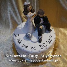 Tort na rocznicę ślubu. Cake for wedding anniversary. 30th Wedding Anniversary, Cake Recipes, Projects To Try, Birthday Cake, Desserts, Food, Tailgate Desserts, Deserts, 3rd Wedding Anniversary