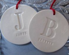 Family of 2 Customized Star Christmas Ornaments by Susabellas