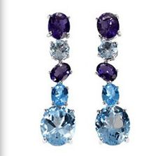 Amethyst and Iolite maxi chaos earrings