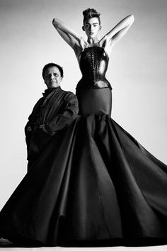 """Azzedine Alaïa """"When I see beautiful clothes, I want to keep them, preserve them… Clothes, like architecture and art, reflect an era."""""""