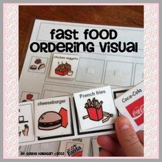 Fast Food Ordering Visual - Great for Children with Autism! by theautismhelper.com