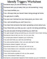 Worksheets Depression Worksheets every kind of cbt worksheet you could ever think be identify triggers worksheet