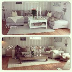 .@idaalexxis   #myhome #mitthjem #befor #efter #interior #interiør #instafun #tipstilhjemmet...   Webstagram Home Staging, Living Room Decor, Couch, Furniture, Home Decor, Drawing Room Decoration, Settee, Decoration Home, Den Decor