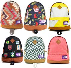 north face backpacks, i love these!