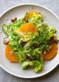 Salad with Fresh Orange, Avocado, and Feta