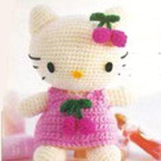 Amigurumi Sanrio Cherry Hello Kitty English Crochet Pattern PDF no shipping charge