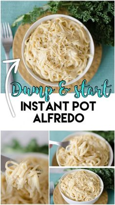 Instant Pot Dump and Start Alfredo made completely from scratch in under 20 minutes! This rich, creamy & dreamy meal is picky eater and kid friendly- making this meal a no-brainer! pot recipes kids Dump and Start Instant Pot Alfredo - Cooking With Karli Instant Pot Pressure Cooker, Pressure Cooker Recipes, Pressure Cooking, Pressure Pot, Fetuccini Alfredo, Wallpaper Food, Slow Cooker, Bo Bun, Dump Dinners